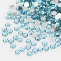 Jewel Embellishments, Resin, Light blue, Faceted Discs, 4mm x 4mm x 1.2mm, 300 pieces, (ZSS071)